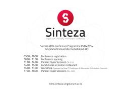 Finalna Agenda - Univerzitet Singidunum