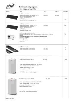 Sve cijene su bez PDV - Elektro-test