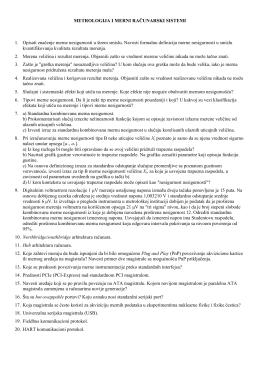 METROLOGIJA I MERNI RAČUNARSKI SISTEMI 1. Opisati