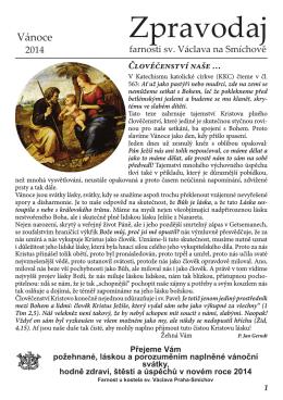 Vánoční zpravodaj - Římskokatolická farnost u kostela sv. Václava