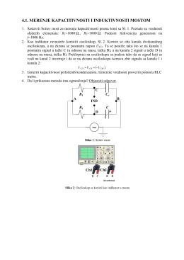 Merenje kapacitivnosti kondenzatora mostom