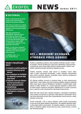 VCI – moderní oChrana Výrobků před korozí
