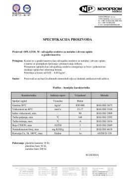 Proizvod: Oplatol, odvajačko sredstvo za drvene oplate u