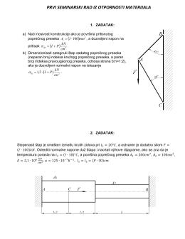prvi seminarski rad iz otpornosti materijala ( ) 2