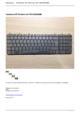 Tastatura : Tastatura HP Pavilion dv7 PK1303X04B0