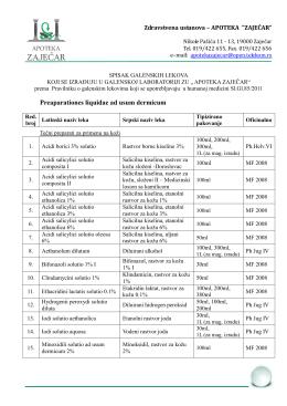 Spisak galenskih lekova