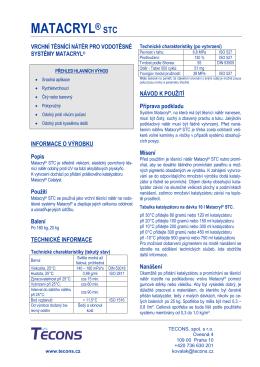 Matacryl® STC - TECONS, spol. s ro