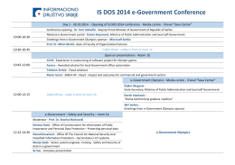 IS DOS 2014 e-Government Conference