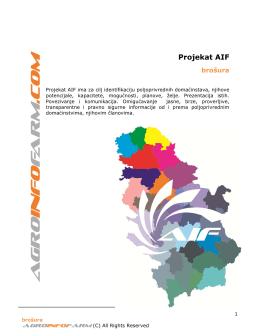 Projekat AIF brošura