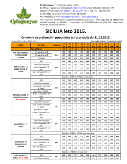"""Sicilija u 2015 - Turistička agencija """"Srbijašume"""""""