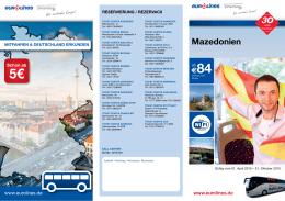 Fahrplan Mazedonien