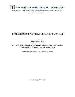 II izveštaj - WM Equity Partners