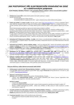 Elektronická komunikace ČSSZ - jak vše udělat 2012 - EM