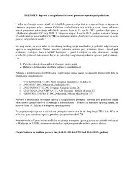 Kontrola opreme za transport tehnickih gasova-isprava o