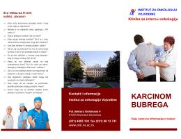 KARCINOM BUBREGA - Institut za onkologiju Vojvodine