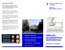 pregled dijagnostička scintigrafija