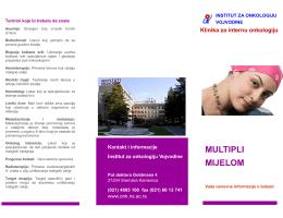MULTIPLI MIJELOM - Institut za onkologiju Vojvodine