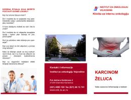 KARCINOM ŽELUCA - Institut za onkologiju Vojvodine