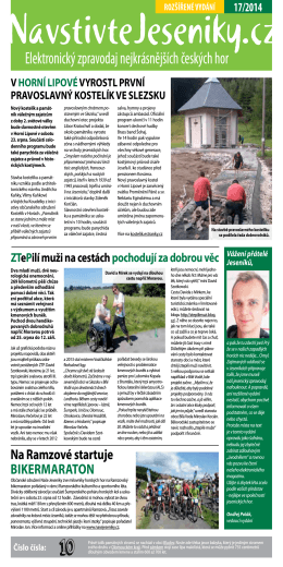 Elektronický zpravodaj 17/2014 - Jeseníky