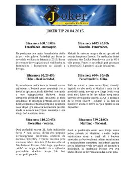 JOKER TIP 16.04.2015.