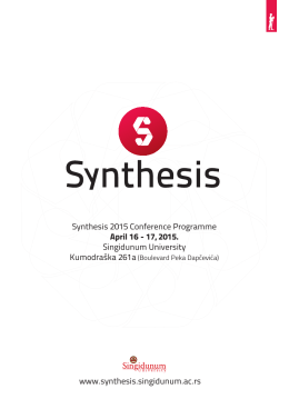 Synthesis 2015 Conference Programme April 16