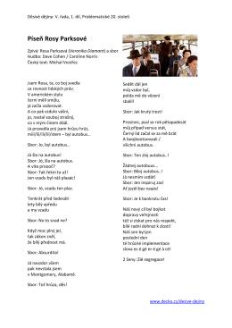Píseň Rosy Parksové