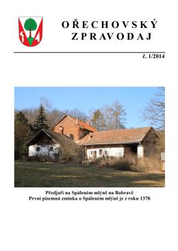 Ořechovský zpravodaj 1/2014