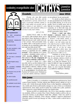 únorové číslo - Evangelikální sbor Ichthys Litoměřice