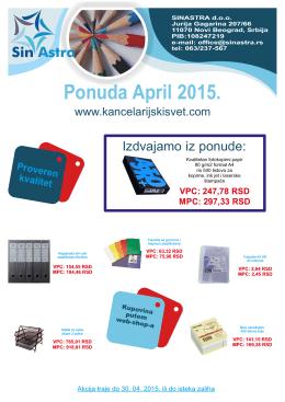 PAMFLET April.cdr - Kancelarijski Svet
