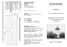 OVDE. - Institut za kriminološka i sociološka istraživanja
