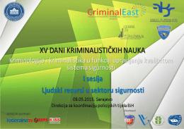 Untitled - Fakultet za kriminalistiku, kriminologiju i sigurnosne studije
