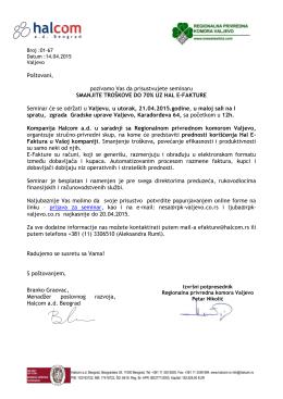 Prilog... - Regionalna privredna komora Valjevo