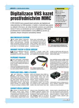 Digitalizace VHS kazet prostřednictvím MMC