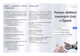 Pomoc obětem trestných činů v Opavě