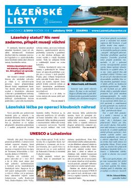 LÁZEŇSKÉ LISTY - Luhacovice.cz
