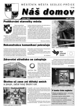 Září 2014 - Město Sedlec