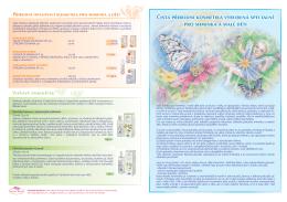 Příbalový leták dětská kosmetika - energetická aromaterapie Hanna