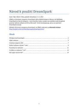 Návod k použití DreamSpark (PDF, 1,3 MB)