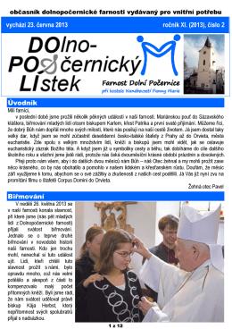 2/2013 - Farnost Dolní Počernice