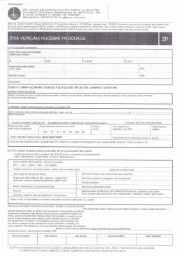 Formulář OSA