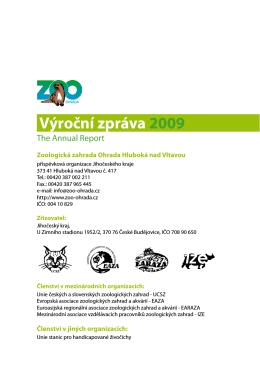 Výroční zpráva 2009 - ZOO Hluboká nad Vltavou