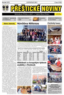 Listopad (.pdf) - Kulturní a komunitní centrum Přeštice