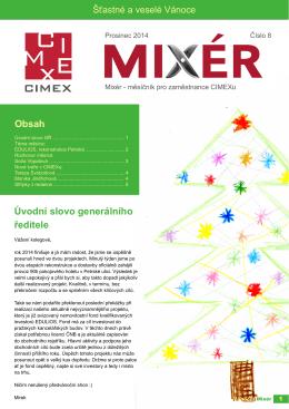 mixér 8 - prosinec 2014