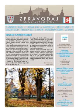 Listopad 2013 - Městská kulturní zařízení Bělá pod Bezdězem