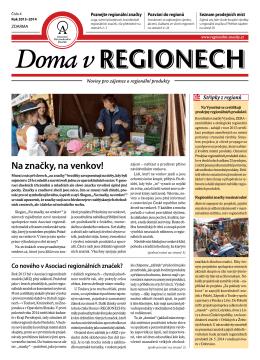 Doma v REGIONECH - Asociace regionálních značek