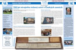 150 let Fakulty strojní ČVUT v Praze