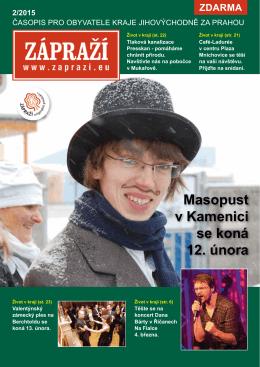 Masopust v Kamenici se koná 12. února