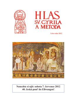 Hlas sv. Cyrila a Metoda - Léto 2012