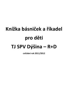 Knížka básniček a říkadel pro děti TJ SPV Dýšina – R+D