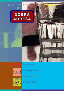 11/2013 - Dobrá adresa